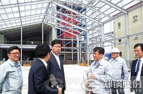 韩国平泽市市长视察郑锅30T生物质锅炉现场